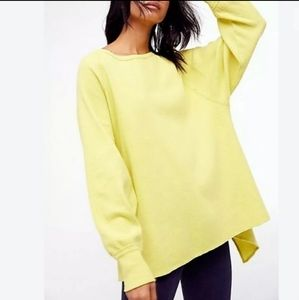 Free People Amelia XS Thermal Top Waffle Knit NWT